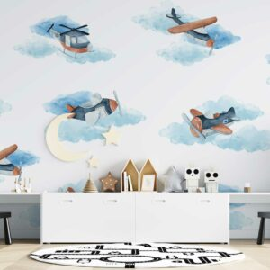 Clouds Airplanes wallpaper