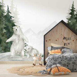 forest bear wallpaper wallmural