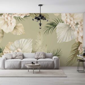 Boho leaves wallpaper