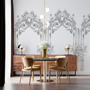 greek arcs wallpaper