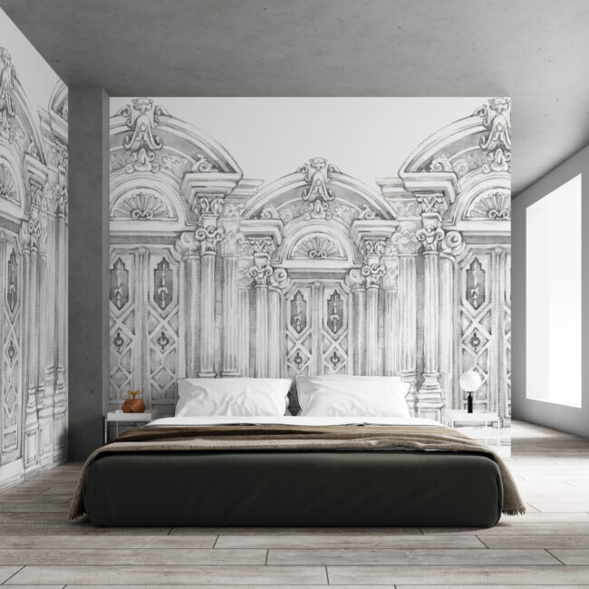 greek columns wallpaper
