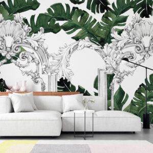 columns leaves wallpaper