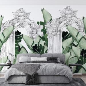 ruins plants wallpaper