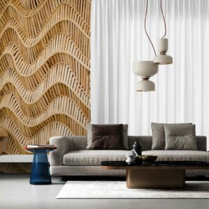 wavy pattern wallpaper