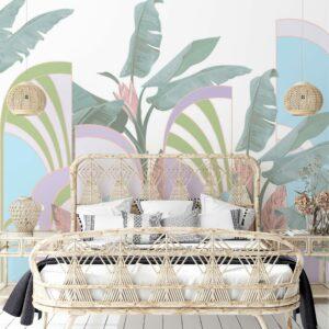 arcs palms wallpaper