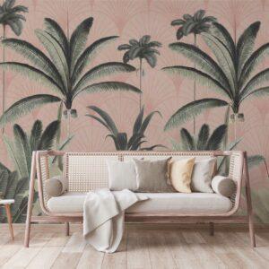 palms pink background wallpaper
