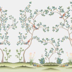 chinoiserie Chinese Asian wallpaper