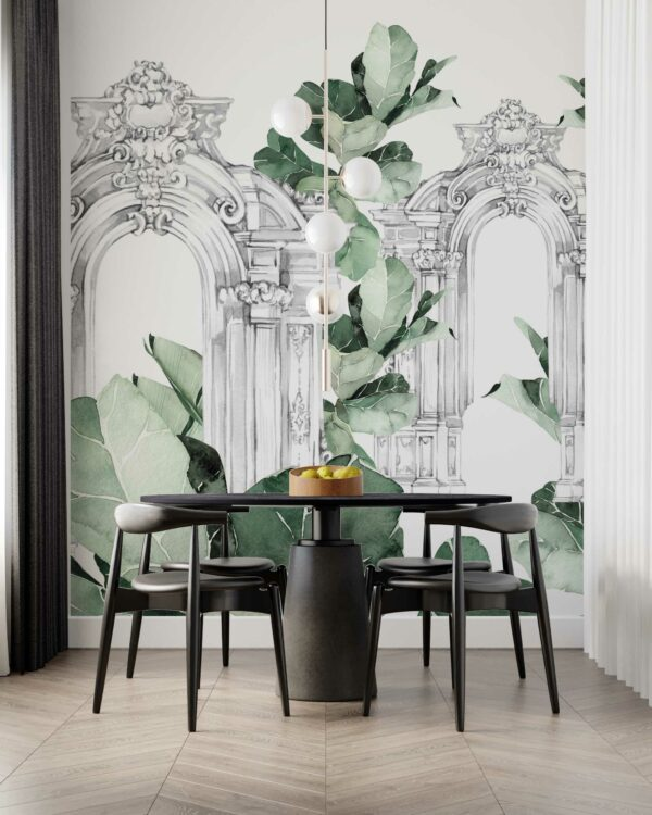tropical ruins wallpaper