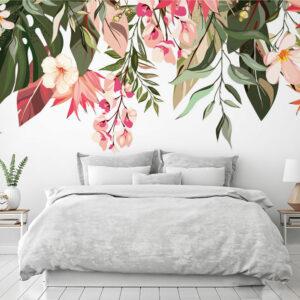 flowers leaves wallpaper