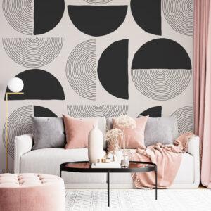 semicircles wallpaper