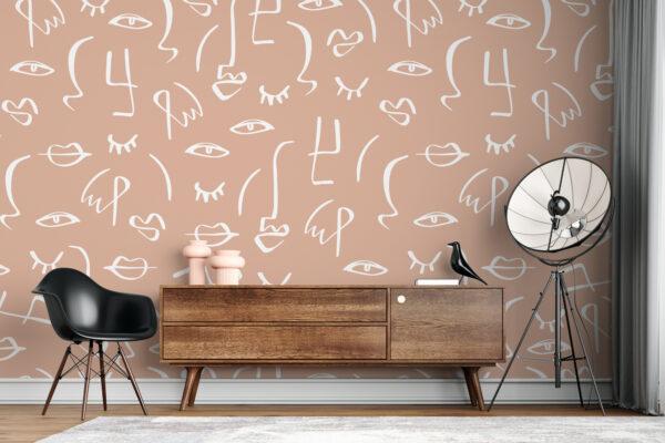 simple faces wallpaper