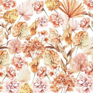 dry leaves boho wallpaper