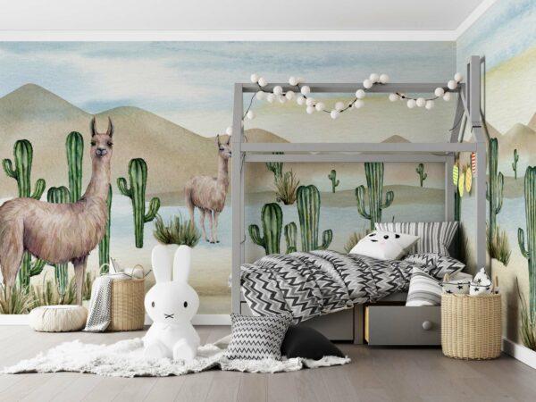 llama cactus wallpaper