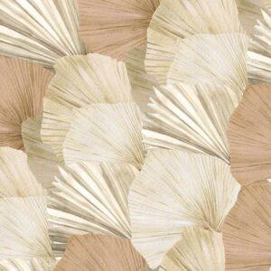 Natural palm fan