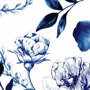 The gentle blue flowers