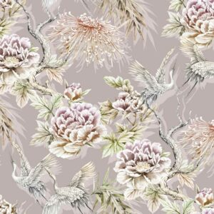flowers and wallpaper