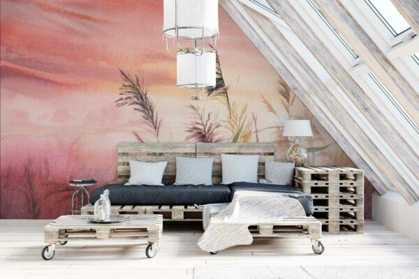 watercolor sunset wallpaper
